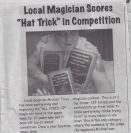 "Local Magician Scores ""Hat Trick"" in Competition"